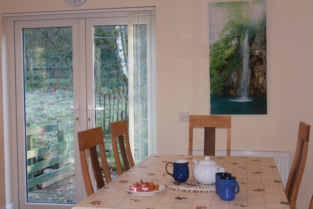 Dining area at Bramble Cottage Self catering Strontian Ardnamurchan Scotland