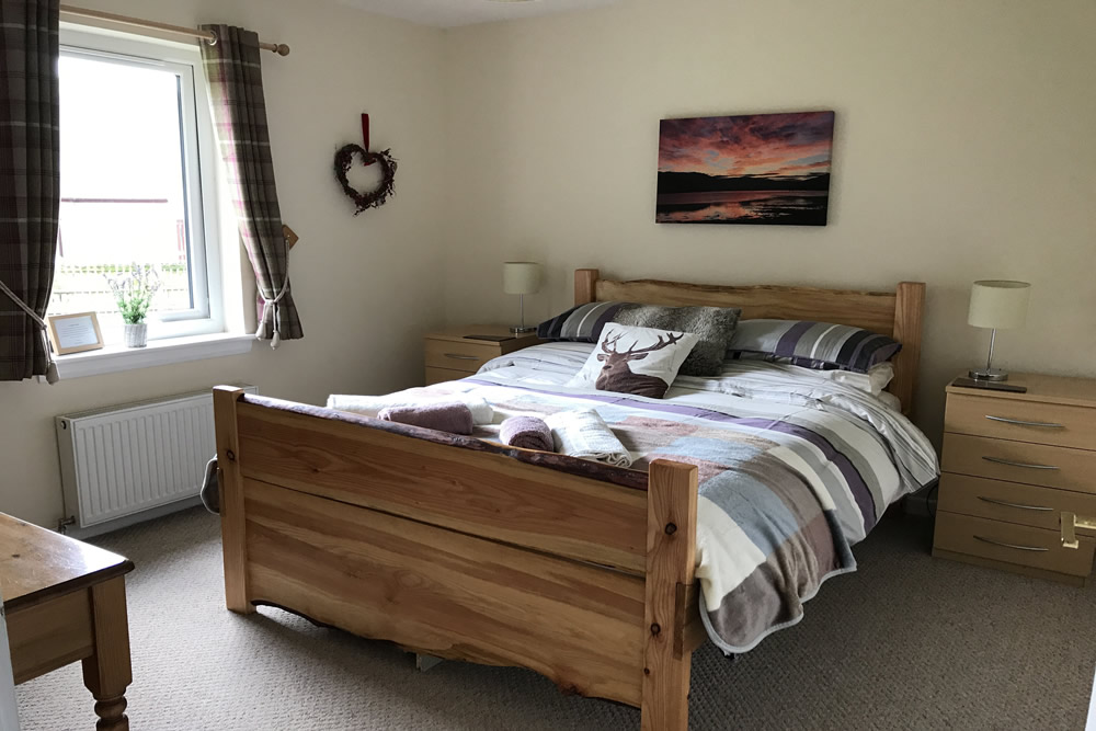 Double bedroom at Bramble Cottage Strontian Ardnamurchan Scotland