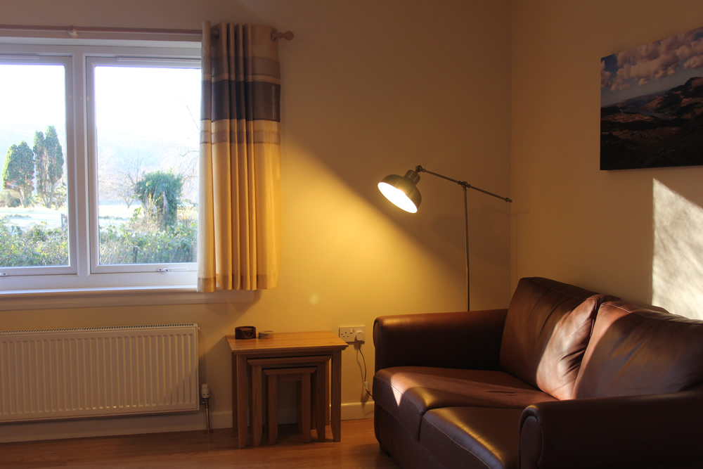 Sitting room at Bramble Cottage Self catering Strontian Ardnamurchan Scotland