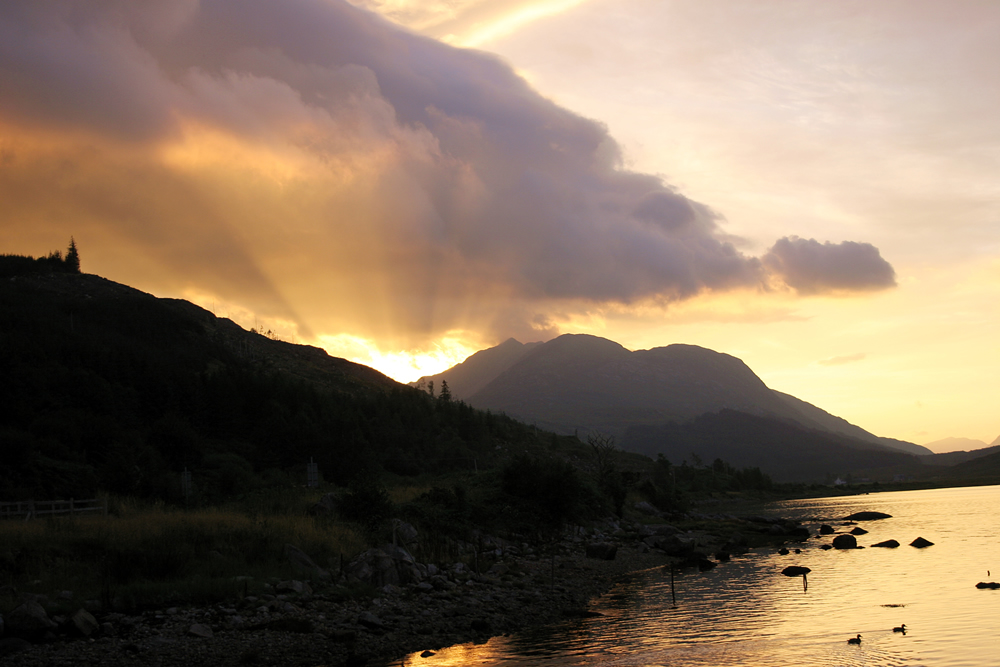 Sunrise over Loch Sunart Ardnamurchan Scotland
